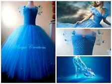 NEW CINDERELLA DRESS(2015 MOVIE) LONG TUTU DRESS AGE 0,1,2,3,4,5,6,7,8,9