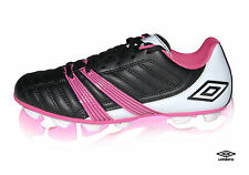 UMBRO CORSICA ENGAGE CHILDREN'S GIRL'S WOMEN'S FOOTBALL BOOTS BLACK PINK NEW