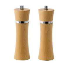 David Mason Design Flute design Wooden Salt Pepper Mill Grinders Beech Dark NEW