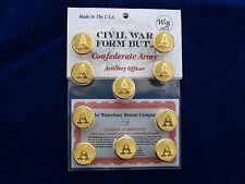 Confederate Army-Civil War Artillery Officer Buttons 10 Pieces New