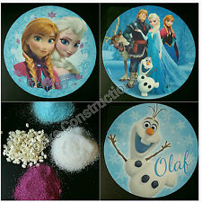FROZEN CAKE TOPPER IMAGE EDIBLE ELSA ANNA OLAF DECORATIONS SNOWFLAKES SPRINKLES