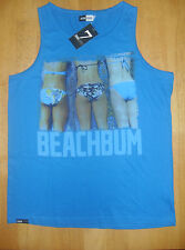 Men's Seven Grand Beach Bum Vest/Tank Top, Blue, Size M, L & XL, BNWT