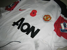 Manchester United NIKE 2010-11 EPL Poppy Remembrance Away Player-issue Shirt