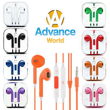 Earphones Earbud Headset Headphone with Mic for Apple iPhone 6 6s 5 5s iPod 3.5