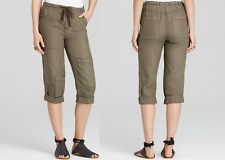 NEW FREE PEOPLE Fashion linen crop utility cargo pockets pants shorts XS S M L