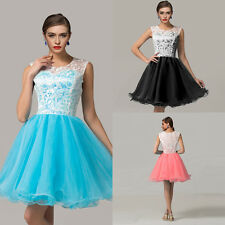 New Sleeveless Tulle gown Applique short Cocktail prom party Homecoming Dresses