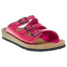 New Womens Birkenstock Pink Relax 300 Synthetic Sandals Slides Buckle Slip On