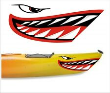 SHARK TEETH MOUTH DECAL STICKERS KAYAK CANOE JET SKI HOBIE DAGGER OCEAN boat 9