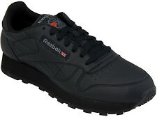 Reebok Classic Leather Mens Black Casual Walking Sneakers 116