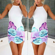 Sexy Ladies Floral Party Cocktail Evening Bandage Bodycon Short Dress Size 6-14