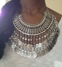 Ethnic Tribal Boho Coin Necklace Belly Dance Bohemian Festival Gypsy Jewelry