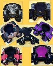 """12"""" Western Saddle MINI PONY Synthetic 4pc Pink Purple Zebra Patch work Just In!"""