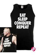 Brock Lesnar Vest Eat Sleep Conquer Repeat WWE Gym Vest  BNWT WWF NEW