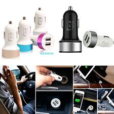 Mini Car Charger Adaptor Bullet Dual USB 2-Port For iPod iPhone Samsung 2.1A+1A