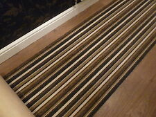 Brown Black -Grey stripe Stair carpet Hall runner Lounge rug mat Vinyl-flooring