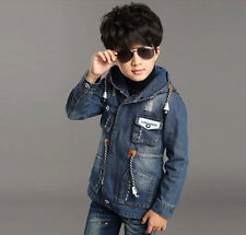 Spring New Kids clothing Boys cardigan denim Jacket children Coats Jackets