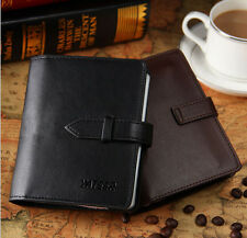 Men 40 Slots Premium Leather Credit Card Holder Business ID Case Purse with Belt