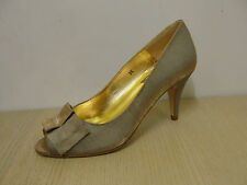 Fabulous HB Alexia gold lame peep toe court shoes,  RRP £105,  BNIB  (124)