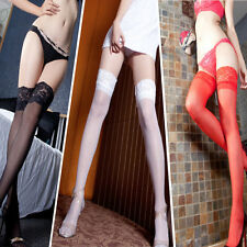 New Vogue Sexy Womens Lace Top Stay Up Thigh High Stockings Nightclubs Pantyhose