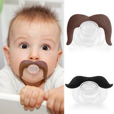 Cute Lovely Baby Infant Pacifier The Cowboy Gentleman Binkie Mustache Beard New