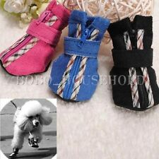 4Pcs Puppy Small Dogs Boots Soft Shoes Winter Warm Sneakers BUY A BIGGER SIZE