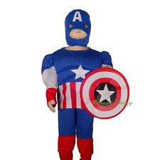 Captain America Superhero Fancy Costume Mask Party Halloween Size 2 3 4 5 6 #030
