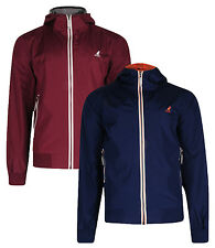 Kangol New Men's Hooded Track Zip Jacket Nocton Navy Blue &  Burgundy S M L XL