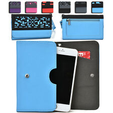 Women's Protective Wallet Case Cover for Smart Cell Phones by KroO ESDC-4 LG