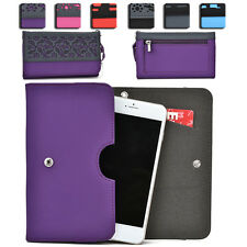 Womens Protective Wallet Case Cover for Smart Cell Phones by KroO ESDC-7 MD
