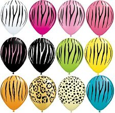 ZEBRA and Jungle Prints Printed LATEX Party BALLOONS  8 OR 25 Piece Your Choice