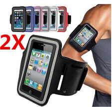 2 X Sports Gym Armband Arm Case Running Exercise for Apple iPhone 4 4S