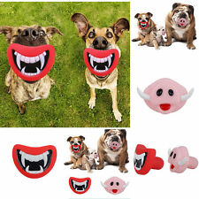 Funny Pet Dog Teeth Vinyl Toy Puppy Chew Sound Novelty Dogs Play Toys