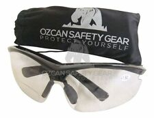 3 X Bifocal Safety Sport Glasses Clear Lens Readers Unisex Magnifier +1.50 +2.00