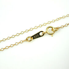 22K Gold over Sterling Silver Necklace Chain, 2mm Cable Chain. All Sizes 7.5-36""