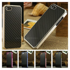 For Apple iPhone 5 5S 5C Aluminum Metal Frame Carbon Fiber Back Panel Case Cover