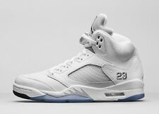 Nike Air Jordan 5 Retro V White Metallic Silver Black