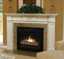 "Pearl Mantel classic Monticello white fireplace mantel. 48-56"".  FREE SH."