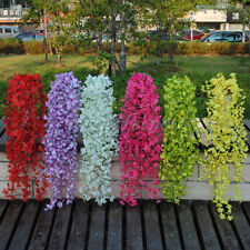 Silk Wisteria Flowers Vine Home Decor Artificial Plant Garland Wedding party