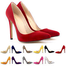 Brand New womens pumps high heel stilettos wedding pointed toe shoes plus size