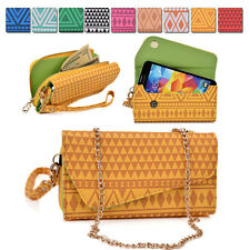 Tribal Protective Wallet Case Cover & Crossbody Clutch for Smart-Phones MLUC9