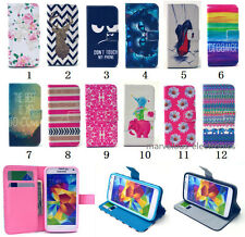 PU Leather Wallet Flip Stand Case Cover Rubber Skin For iPhone & Samsung Phones