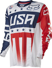 Fox Racing MXON LE Patriot Red/White/Blue 360 Dirt Bike Jersey MX ATV 2015