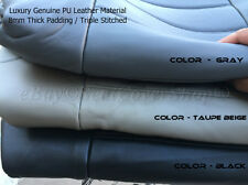 PREMIUM PU Synthetic Leather Double Stitched 2 Front Bucket Seat Covers Set 6R