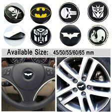 5x Car Truck Tyre Steering Wheel Center Hub Cap Decal Sticker Punisher Crossbone