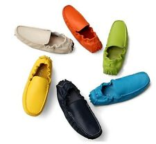 New Mens casual slip on Loafer genuine leather moccasin-gommino driving Shoes