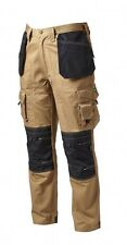 APACHE HOLSTER BEIGE INDUSTRIAL CARGO WORK TROUSERS SAFETY TOOL POCKET TROUSER