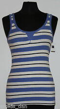 GAP~Woman's Blue/White Ribbed Tank Top~Size XS, S, XL ~NWT ~~
