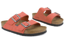 Birkenstock Arizona Soft Footbed 752471 New Womens Leather Coral Summer Sandals