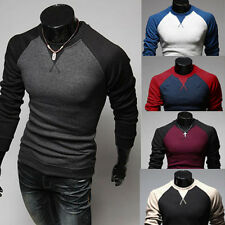 Fashion Men's Casual Cotton Summer Slim Crew-neck Long Sleeve Tops Tee T-shirt