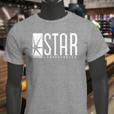 The Flash DC Barry Allen Laboratories Star Labs Mens Gray T-Shirt
